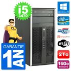PC Tour HP Compaq Pro 6300 CMT Intel i5-3470 RAM 16Go Disque 2To Windows 10 Wifi