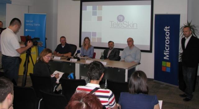Siniša Perović . Microsoft, Irina Simin - TeleSkin , prim dr Jadran Bandić i Željko Ratkaj - TeleSkin