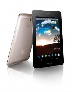 """Asus Fonepad. Ekran: 7"""" 1280×800 * Procesor: Intel Atom Z2420 1,2 GHz (single-core + HT) * Memorija: 1 GB RAM, 16 GB flash + microSD (do 32 GB) * Grafika: PowerVR SGX 540 @ 400 MHz * Komunikacija: HSDPA+ 21 Mbps, HSUPA 5.76 Mbps, Wi-Fi 802.11 b/g/n, Wi-Fi hotspot, BT 3.0 * GPS: A-GPS podrška, GLONASS * Kamera: 3,15 Mp, foto 2048×1536 piksela, video 720p, Web kamera 1,2 Mp * Operativni sistem: Android 4.1 * Dimenzije i masa: 196,4×120,1×10,4 mm; 340 g * Cena: 28.990 dinara. (kliknite za veću sliku)"""