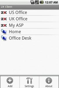 Za pristup sa Android  telefona koristi se 2X Client