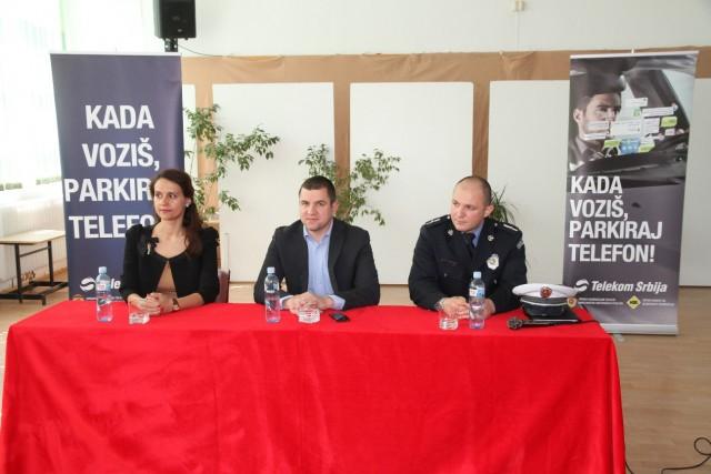 Ivana Filipovic, Telekom Srbija,_Damir Okanovic, Komitet za bezbednost saobracaja, Branislav Toncic, Uprava_saobracajne policije MUP1