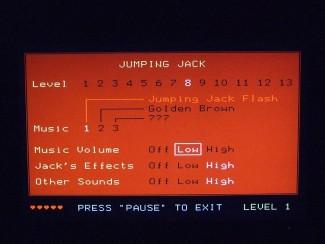 "Ekran za pauzu je istovremeno i glavni meni igre ""Jumping Jack"""