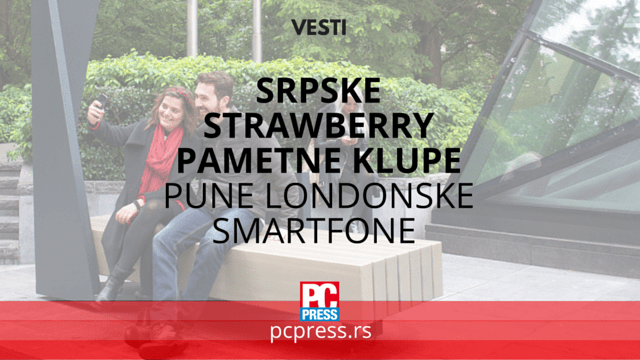 Strawberry Pametne Klupe pcpress