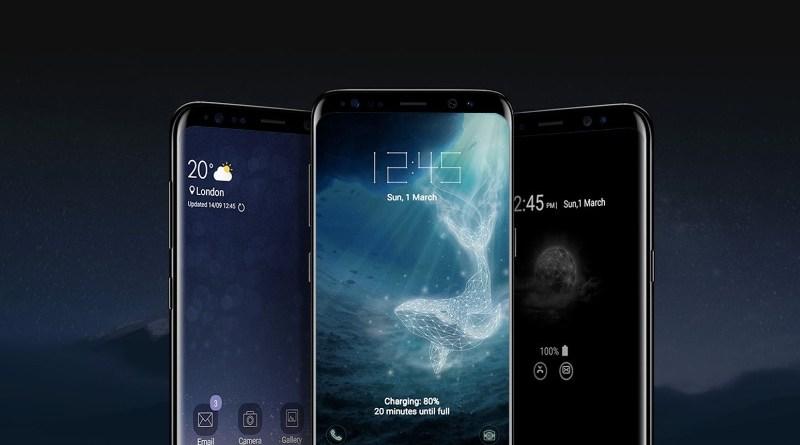 Samsung s9 smartfon mobilni telefoni otisak prsta na ekranu
