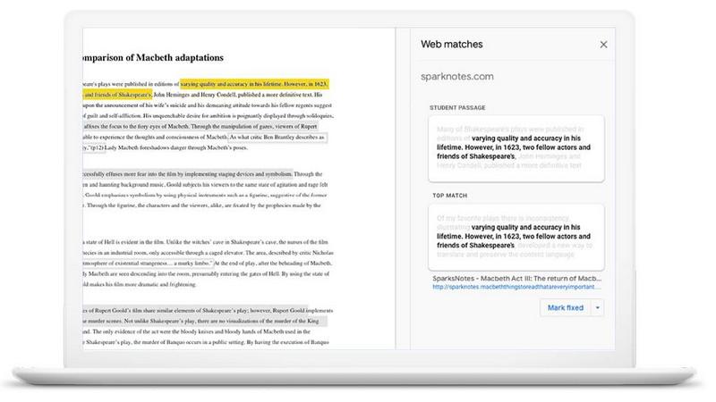 Google Assigments Tool za prepoznavanje plagijata