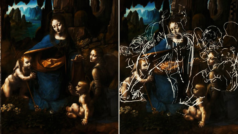Tajna stara 500 godina: Leonardo da Vinči i crteži ispod slike