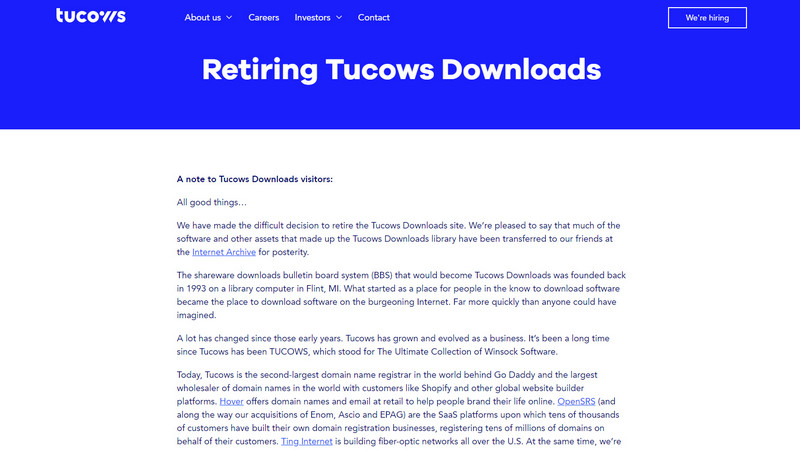 tucows downloads