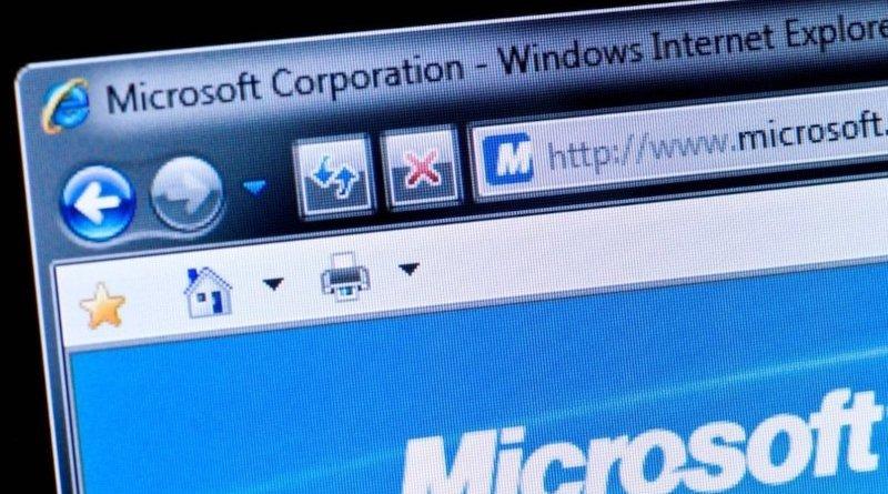Internet Explorer slika ekrana