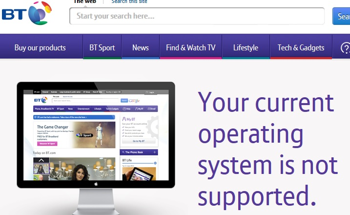 your current operating system is not supported