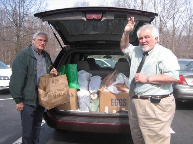 Gene Easter and Ken Granville pick up Freedom House Donations