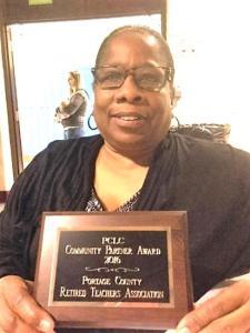 Judy Morgan with Community Partner Award