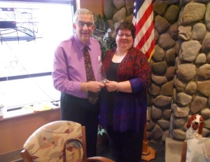 Dave with Kelly Neal, Volunteer Engagement Specialist