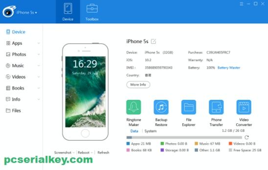 iTools 4.4.1.8 Crack + Full Keygen [latest] Download