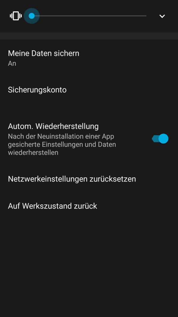 Sicherung in Android 6