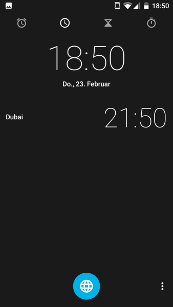 Android Uhr