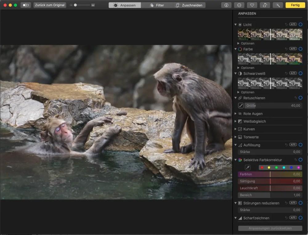 Bilder kostenlos bearbeiten mit MacOS