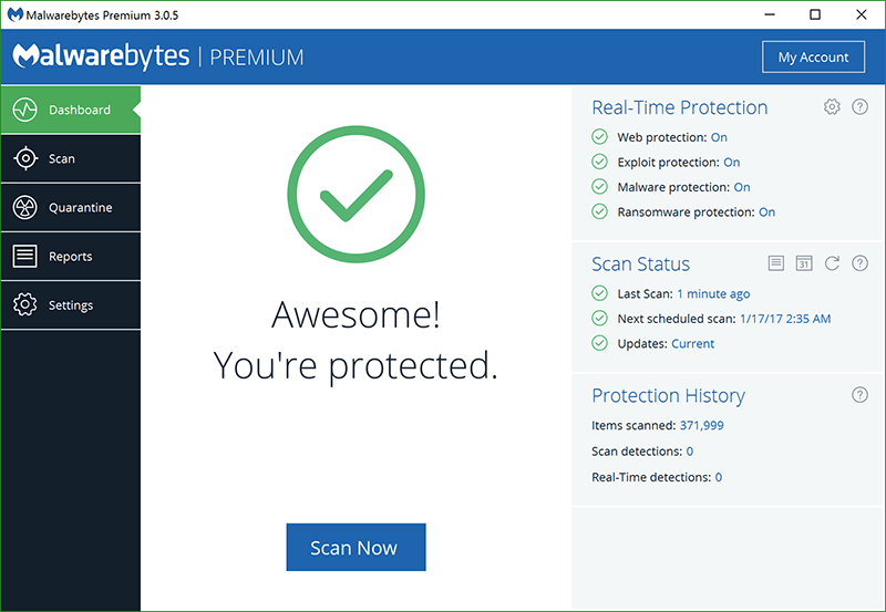 Malwarebytes 3.5 Premium Regitration Key Full Version