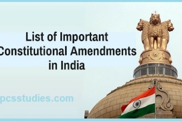 list of important amendments in India