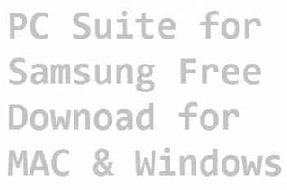 PC suite for Samsung galaxy