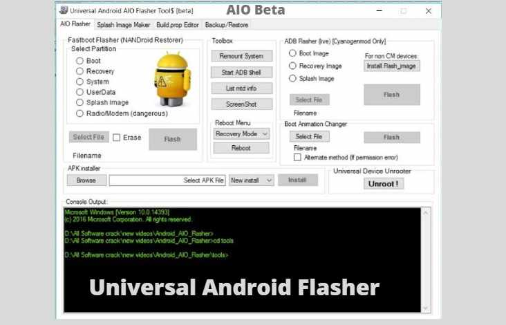 Universal Android flasher AIO beta