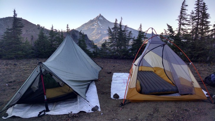 Dry Camp Overlooking Mount Jefferson