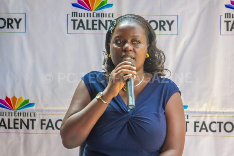 Renowned multi-award winning film pioneer, Mariam Ndagire speaking at the launch of the MultiChoice Talent Factory portal at the MultiChoice Uganda head offices in Kololo, Kampala   Photo by PC Tech Magazine/Olupot Nathan Ernest.