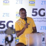 Gordian Kyomukama now CEO of MTN South Sudan pictured speaking at the MTN Uganda 5G pilot launch at Nyonyi Gardens.