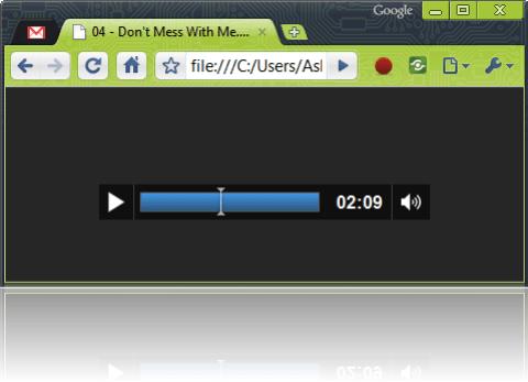 Google Chrome Music Player