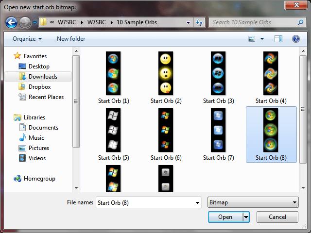 Change The Start Orb in Windows 7 – PC Tonic