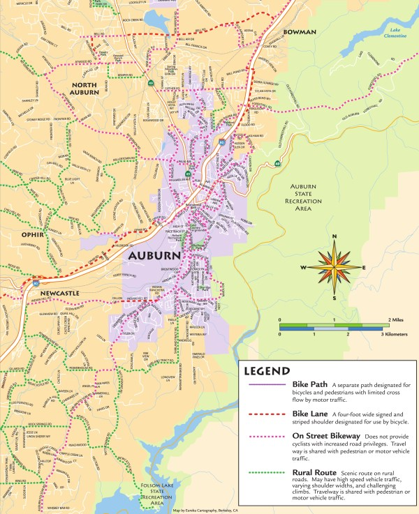 Auburn and Vicinity Bikemap Area