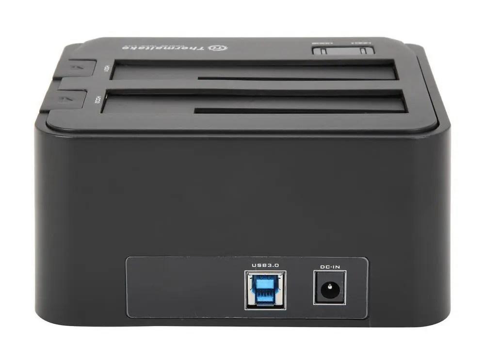"Thermaltake BlacX Duet 2.5""/3.5"" SATA 1/2/3 USB 3.0 Hard Drive Docking Station (ST0014U)"