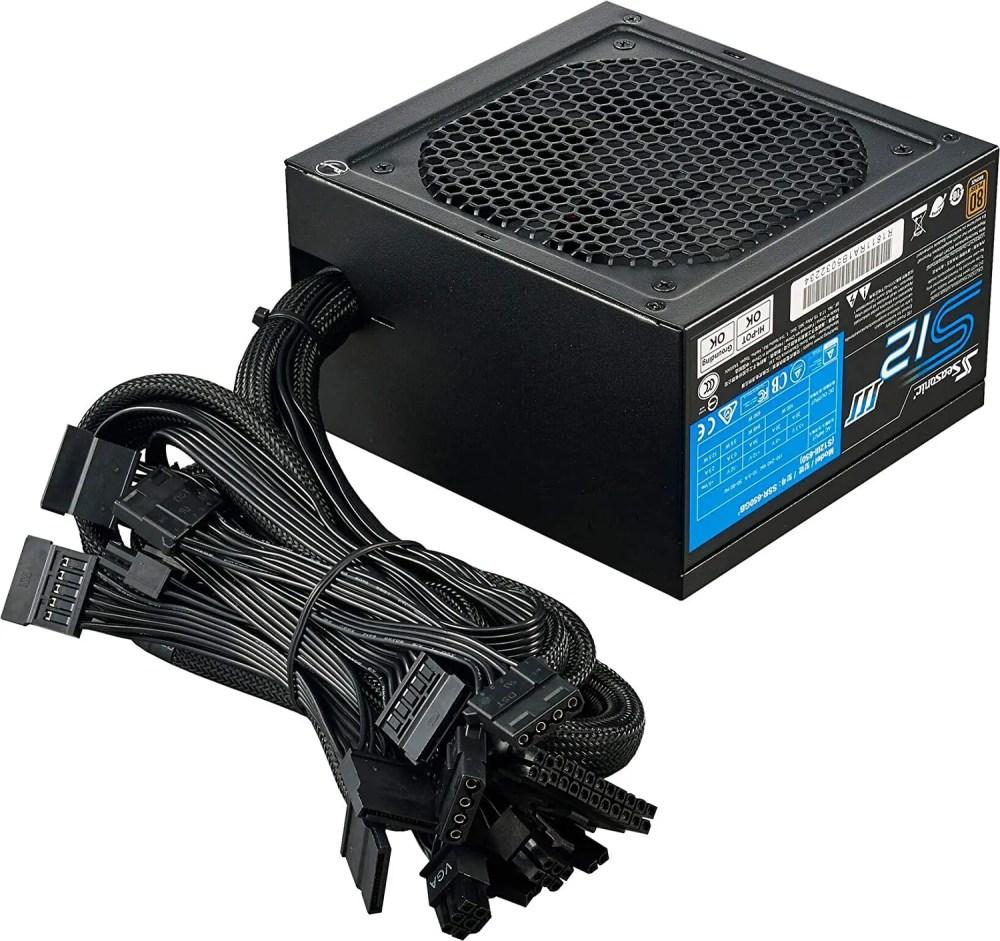 Seasonic S12III 650 W 80+ Bronze, ATX12V & EPS12V, Direct Output, Smart & Silent Fan Control Power Supply (650 SSR-650GB3)