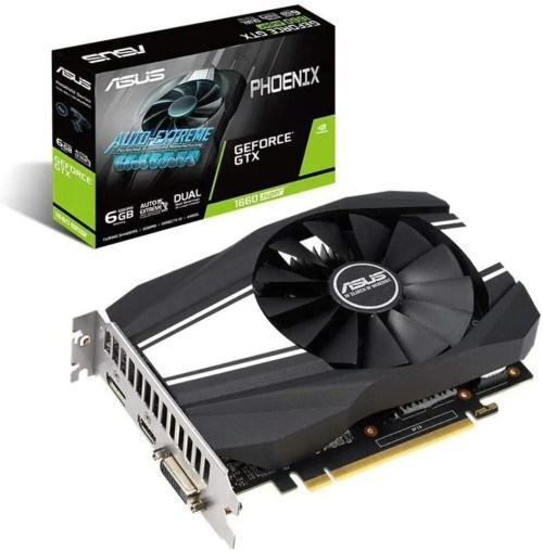 ASUS Phoenix GeForce GTX 1660 SUPER OC Edition Graphics Card (PH-GTX1660S-O6G)