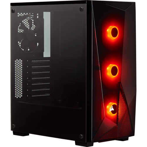 CORSAIR Carbide Series SPEC-DELTA RGB Tempered Glass Mid-Tower ATX Gaming Case (Black) (CC-9011166-WW)