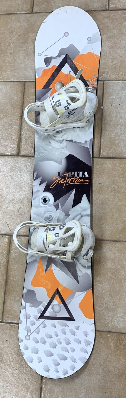 Capita Saturnia Women's Snowboard 152 cm with Burton Stiletto Binding