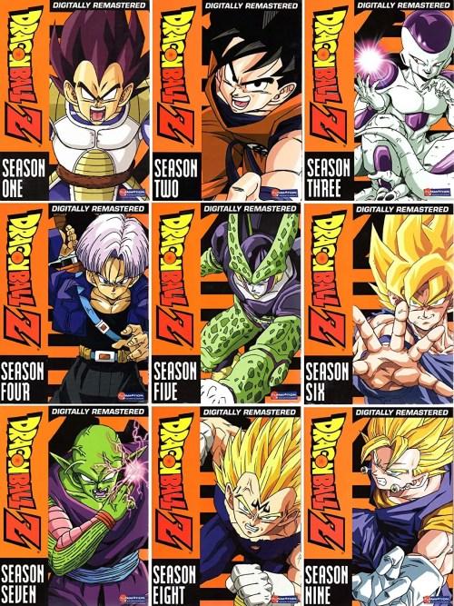 Dragonball Z Complete Seasons 1-9 Digitally Remastered DVD Box Set