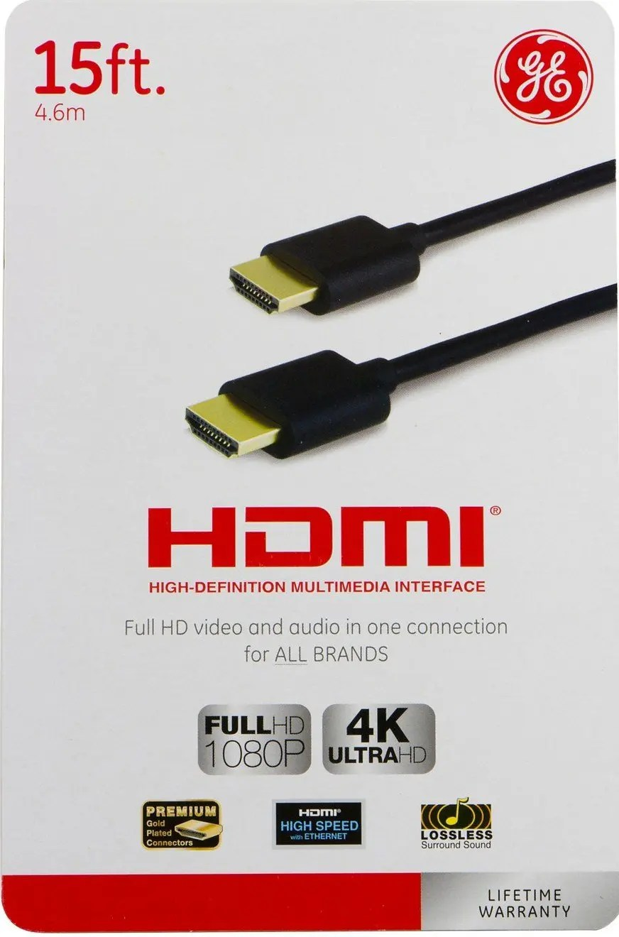 GE 15 ft HDMI Cable (33576)