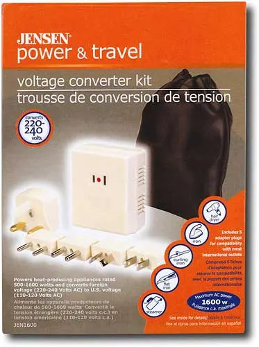 Jensen Power & Travel Voltage Converter Kit (JEN 1600)