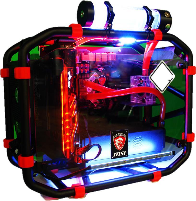 Customizable Liquid CPU Cooler Desktop Computer