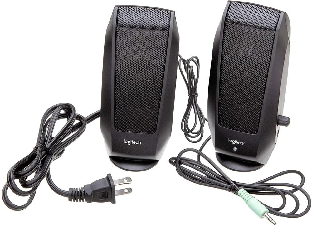 Logitech S-120 Speakers (Black)
