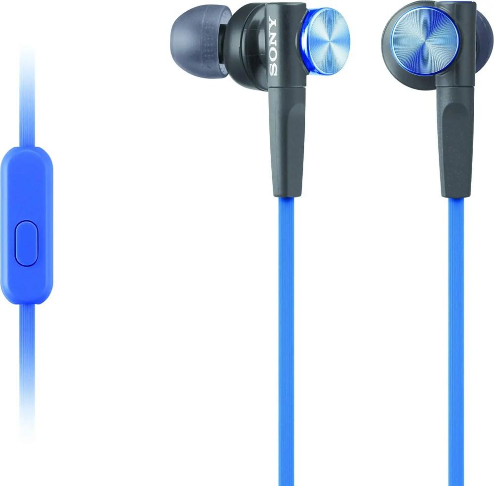 Sony MDR-XB50AP Extra Bass In-Ear Headphones/Earbuds (Blue)