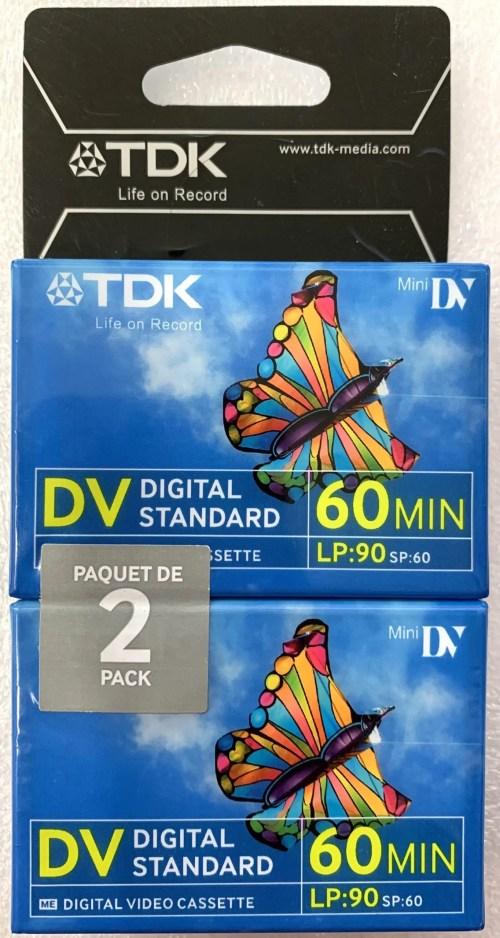 TDK MiniDV Digital Standard 60 Minute LP:90 Blank Digital Video Cassette (2 Pack)