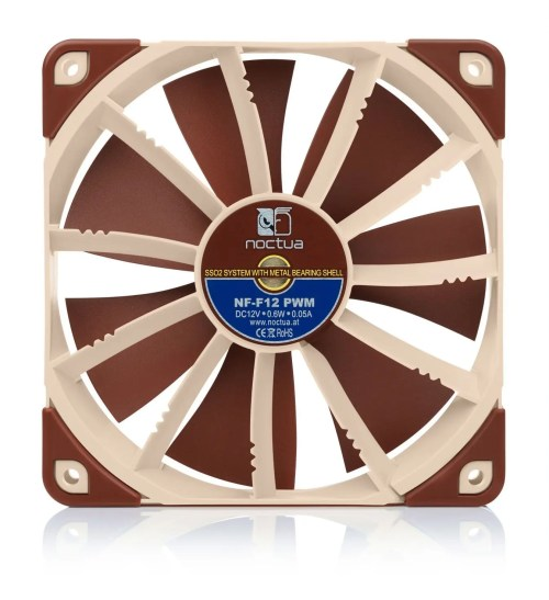 Noctua NF-F12 PWM 120 mm 4-Pin Case Fan