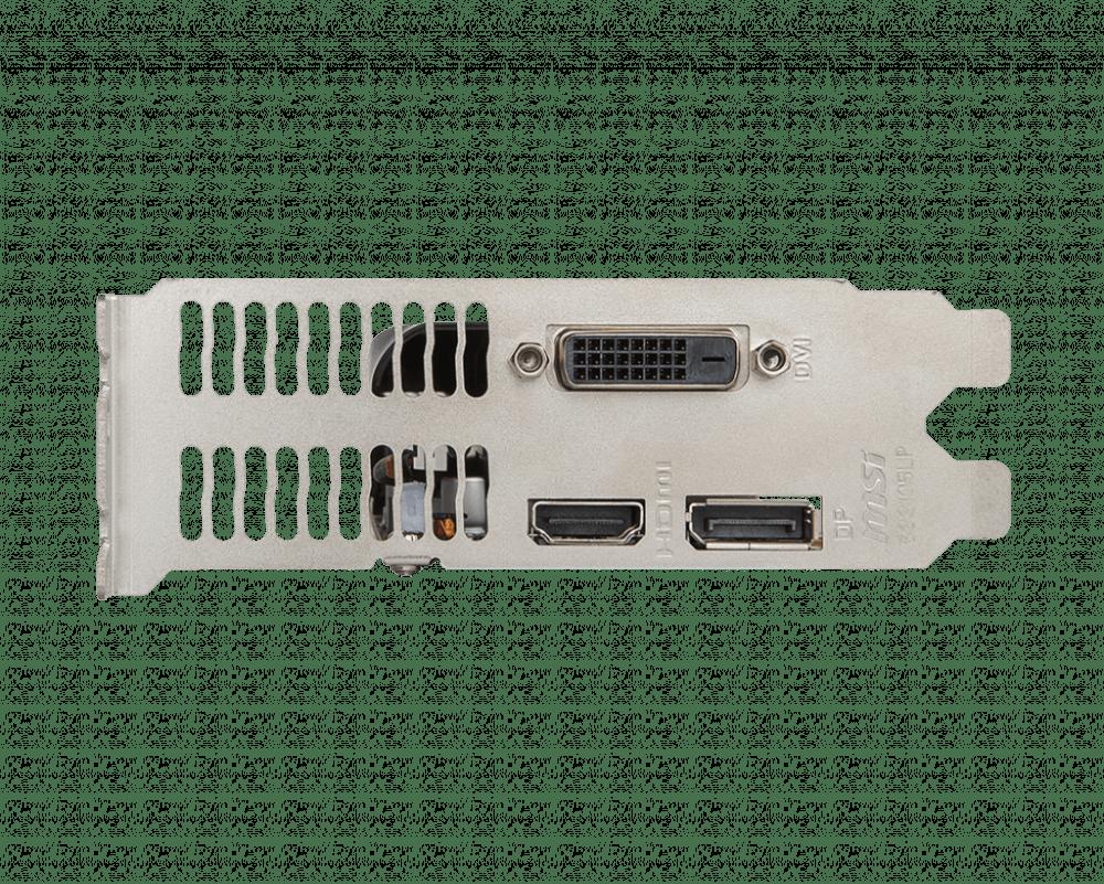 MSI GeForce GTX 1050 Ti 4GT LP Graphics Card