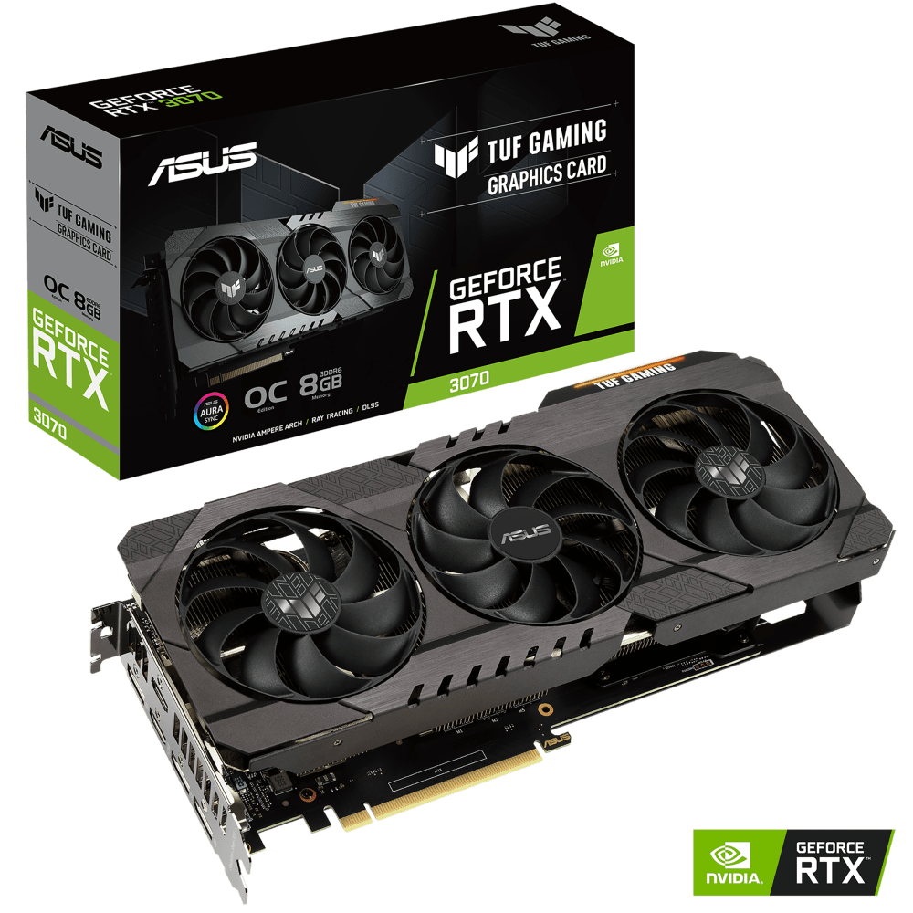 ASUS TUF Gaming GeForce RTX 3070 Graphics Card (TUF-RTX3070-O8G-GAMING)