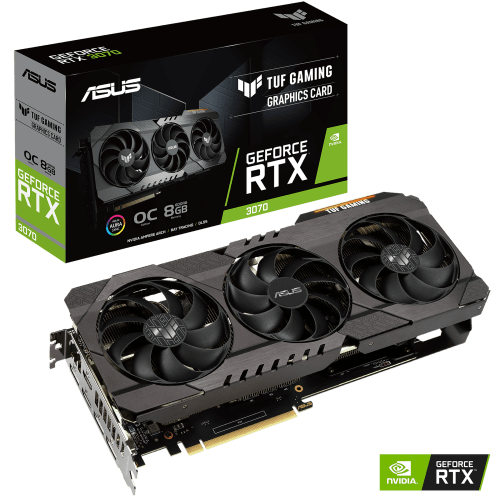 ASUS TUF Gaming GeForce RTX 3070 Graphics Card (TUF-RTX3070-O8G-GAMING)