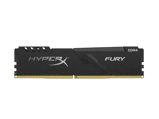 Kingston HyperX FURY 8 GB 3200 MHz DDR4 CL16 DIMM 1Rx8 Black XMP Desktop Memory Single Stick (HX432C16FB3/8)