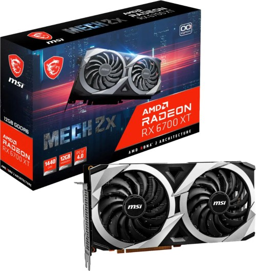 MSI AMD Radeon RX 6700 XT MECH 2X 12G OC Graphics Card