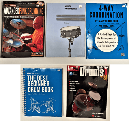 Assorted Drumming Instructional Books