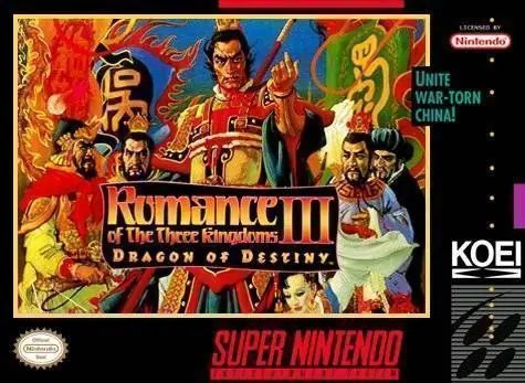 Romance of the Three Kingdoms III: Dragon of Destiny for Super Nintendo Entertainment System (SNES)